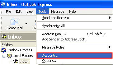 how to set up a outgoing message from outlook